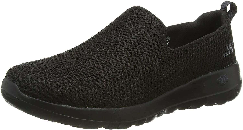 Skechers Women's Go Walk 5-Brave Sneaker, Black, 10.5 US/ 7.5 UK/ 40.5 EU - $53.95