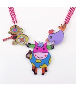 cow necklace pendant acrylic pattern 2016 news accessories spring summer... - $13.92