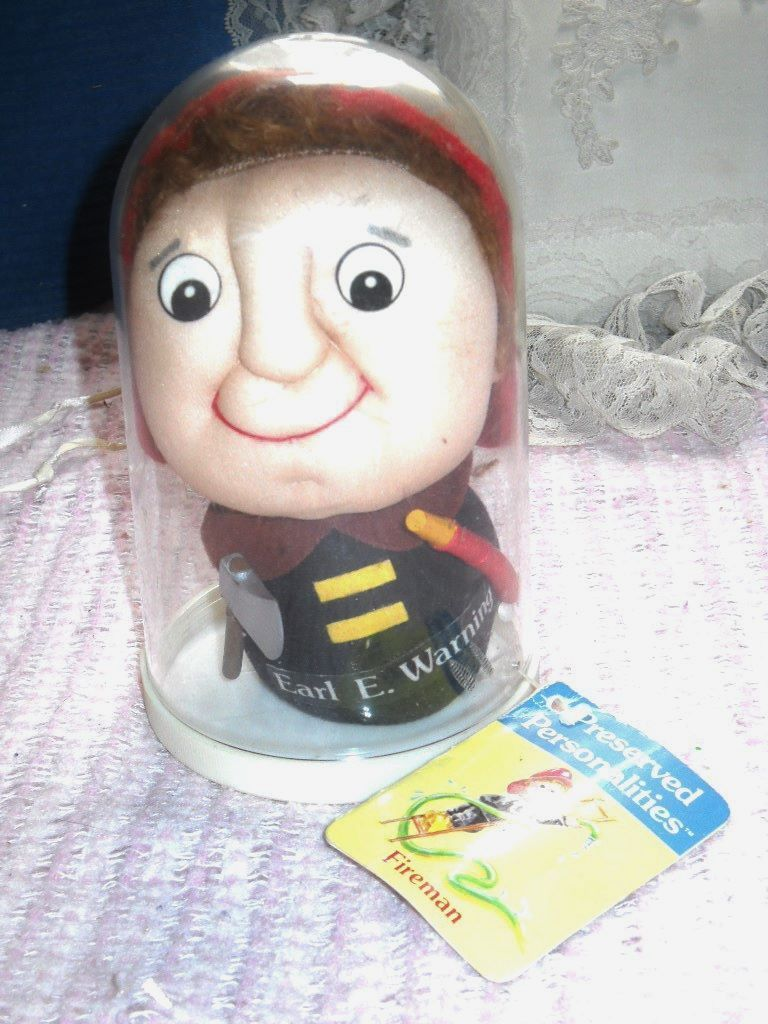 "Primary image for PRESERVED PERSONALITIES FIREMAN  ""EARL E. WARNING""  VINTAGE DOLL IN A DOME"