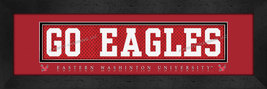 Eastern Washington University 8x24 Slogan Stitched Jersey Framed Print - $39.95