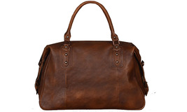 Handmade Men Large 100% Vegetable Tanned Genuine Leather Travel Bag - $189.99