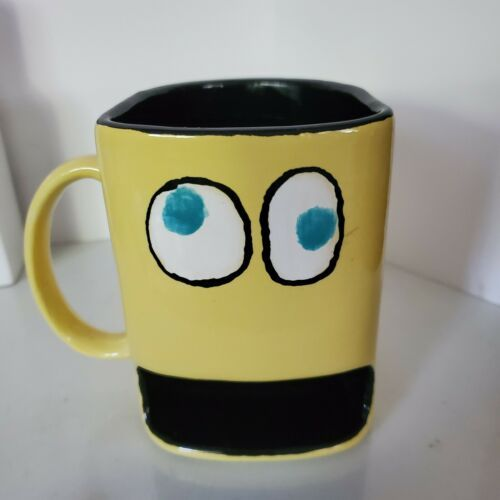 Primary image for Yellow Ceramic Mug Googly Eyes Handwarmer space on bottom