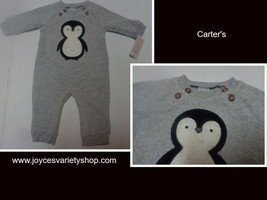 Carter's Just For You One Piece NWT 3 Months Gray Penguin Graphic - $8.99
