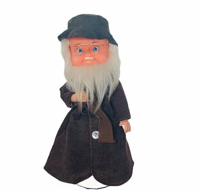 Primary image for Germany music box figurine hobo white beard west W vtg doll glasses sculpture
