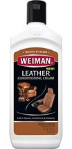 Weiman 3 in 1 Deep Leather Cleaner & Conditioner Cream - Restores Leather Surfac