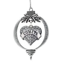 Inspired Silver Comets Pave Heart Holiday Ornament - $14.69