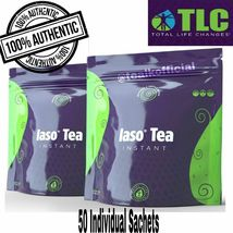 IASO INSTANT DETOX TEA 50 SACHETS Month Supply total Life Changes TLC  - $58.99