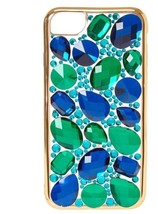 New In Package ICING Faux Sapphire & Emerald Stone Jeweled iPhone 6/7 Case image 2