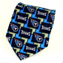 Tennessee Titans Men's Silk Necktie Licensed NFL Football Sports Blue Ne... - $31.68