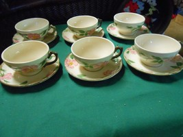 """Beautiful Collectible Set of 6 FRANCISCAN """"Desert Rose"""" CUPS & SAUCERS - $17.04"""