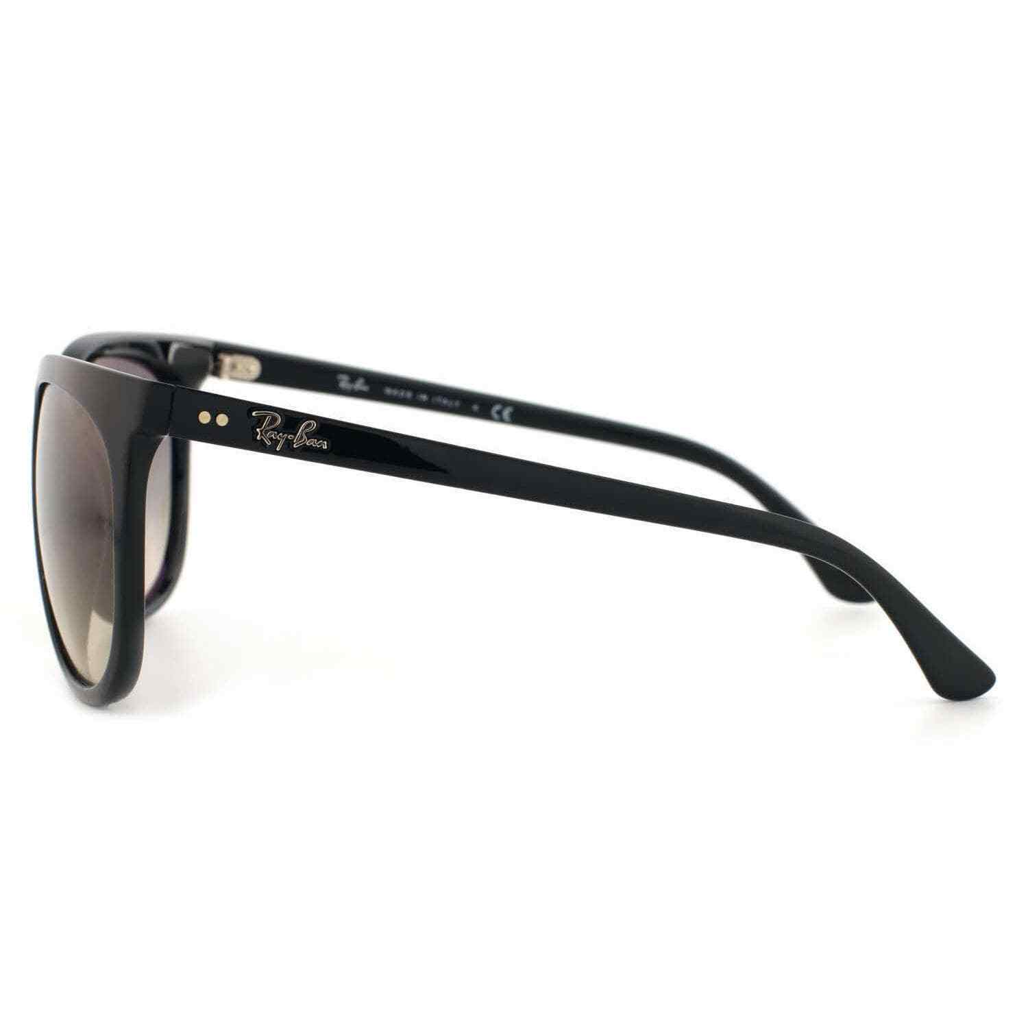 New RAY-BAN Cats 1000 RB 4126 601/32 Polished Black  w/Grey Gradient 57 mm