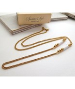 Vintage Avon Spectaculars Spectator Style Gold Chain White Bead Necklace... - $12.74