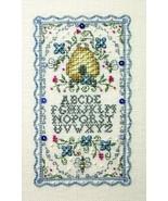 Three Bee Mini Sampler Teenie chart w/emb cross stitch chart The Bee Cot... - $10.80