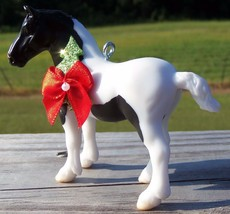 Custom Made Stablemate Breyer American Spotted Draft Horse Christmas Ornament #1 - $23.40