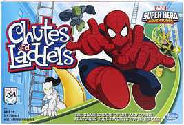 Hasbro Gaming Marvel Spider-Man Web Warriors Chutes and Ladders Game Single - $23.99