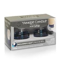 Yankee Candle Midsummer's Night Scentplug Refill Bulb 2 Pack New in Box - $16.95