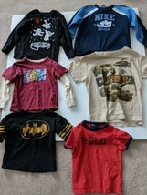 Boys Clothes Toddler Lot of 6 Pieces Sz 2T to 5T Tops - $14.79