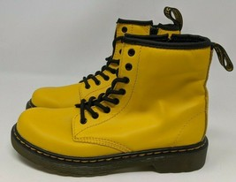 Dr. Martens 1460 Big Kids Eight Eye Lace-Up Boot (Size 2, Yellow/Black) - $43.55