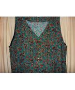 Teal Print sleeveless longish Dress- Lg. - $14.88