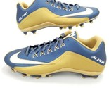Nike Alpha Strike 2 Low TD Mens 13 Football Cleats Shoes Navy Gold 729445-426