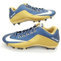 Nike Alpha Strike 2 Low TD Mens 13 Football Cleats Shoes Navy Gold 729445-426 - $44.99