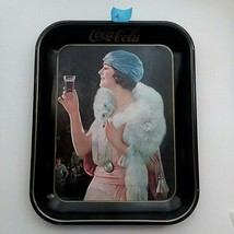 "1973 reproduction of Original 1925 Coca-Cola Tray ""Party Girl""Vintage Vtg - $31.58"