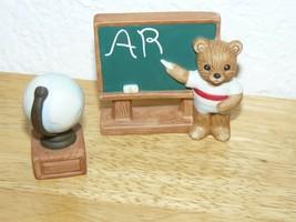 "HOMCO Sri Lanka #1409 Teacher Bear Figurines 3"" - $6.86"