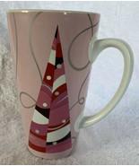 """2004 STARBUCKS Christmas Tree Mug Cup Tall Pink Holiday Collectible 6"""" 16oz - $12.86"""