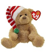 Skis the Teddy Bear with Christmas Hat Ty Beanie Baby MWMT Collectibles ... - $8.86