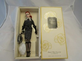 Barbie Silkstone Doll With Black And White Tweed Suit And Accessories Gold Label - $129.95