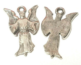 ANGEL FINE PEWTER PENDANT CHARM - 15x25x1mm image 2