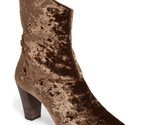FREE PEOPLE 'Moonlight' Crushed Velvet Ankle Bootie Anthropologie 37 6.5