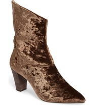 FREE PEOPLE 'Moonlight' Crushed Velvet Ankle Bootie Anthropologie 37 6.5  - £25.61 GBP