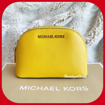 NWT MICHAEL KORS JET SET TRAVEL MD TRAVEL MAKE UP CASE POUCH JASMINE YELLOW - $39.48