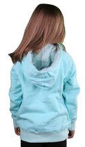 Iron Fist Girls Kids Happy Camper Aqua Hoodie Sweater w Fur Hood IFK0088 NWT image 3
