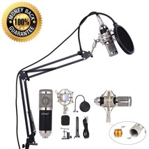 Studio Recording Kit Condenser Stand Podcasting Microphone Set Network S... - $42.06