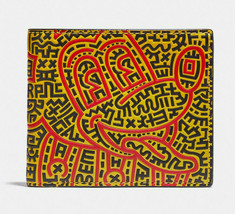 Coach Disney Mickey Mouse X Keith Haring Double Billfold Wallet ~NWT~ 5221 - $143.55