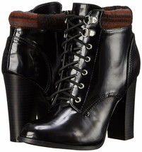 Qupid Women's Reborn-7 Patent Lace-Up Black Ankle Boots - $19.99