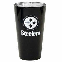 Pittsburgh Steelers Aluminum Lusterware Beer Pint Glass Cup 16 Oz - $22.77