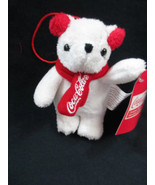 Coca-Cola Kurt S. Adler Plush Bear with Headphones and Scarf 4 inches- B... - $5.94