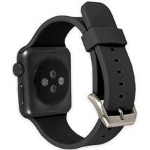 End Scene CO9212 1.5-inch Silicone Band for Apple Watch - Black - $24.08