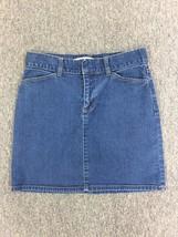 Gap Womens Hip-Hugger Stretch Blue Denim Cotton/Spandex Mini Skirt Size 6 - $10.99