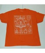 TMNT Teenage Mutant Ninja Turtles Technodrome T-shirt XL Orange New Loot... - $13.36
