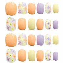 24 Pcs Fashion Nails Stickers Beautiful Nail Decorations False Nails Tips [I]