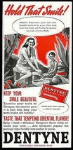 Dentyne Gum 1940 Print Ad  Polynesian Woman Boy Beautiful Smiles - $10.99