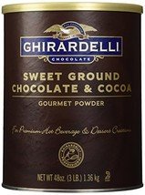 Ghirardelli Chocolate Sweet Ground Chocolate & Cocoa Beverage Mix, 48 oz Caniste - $28.86
