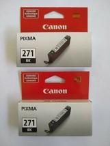 Genuine Canon 271BK Pixma Black Ink Cartridges LOT OF 2 New Sealed - $17.76