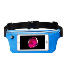 Waist Band Fanny Pack Phone Holder Blue fits Zte Max XL - $12.86