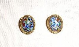 Vintage Mosaic Confetti Glass Earrings - $6.99
