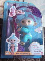 Glitter Monkey Fingerling Amelia with Bonus Blanket - $18.69